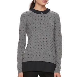 Polkadot Mock-layered Sweater